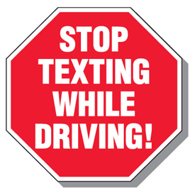 Cell-Phone-Law-&-No-Texting-Signs-Stop-Texting-While-Driving-L3037-ba