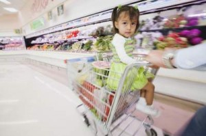 little-girl-in-shopping-cart